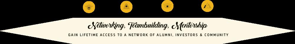 Networking, Teambuilding, Mentorship
